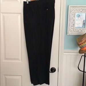 42 x 30 Tommy Bahama pleated black dress pants